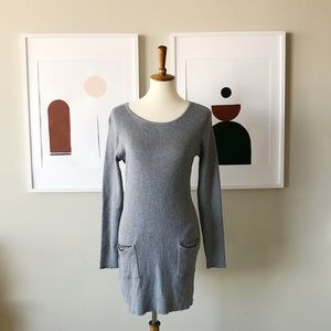AGB Knit Beaded Pocket Dress Size Large